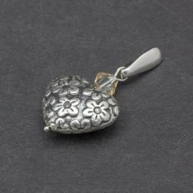 Srebrne serduszko z kryształkiem Swarovskiego