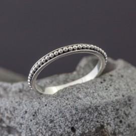 Srebrny pierścionek - obrączka (rozm.15)