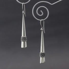 Długie kolczyki ze srebra