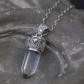 Srebrny wisior z kryształem górskim