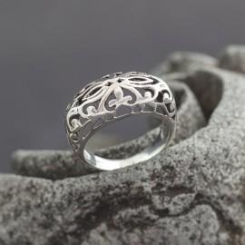 Ażutowy srebrny pierścionek