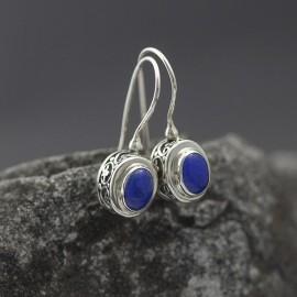 Kolczyki w stylu retro z lapisem lazuli