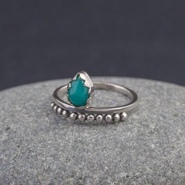 Srebrny pierścionek z turkusem (rozm.12)