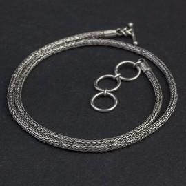 Srebrny ręcznie pleciony łańcuch