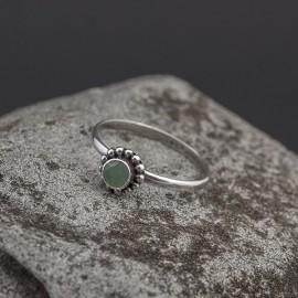 Srebrny pierścionek ze szmaragdem (rozm.14)