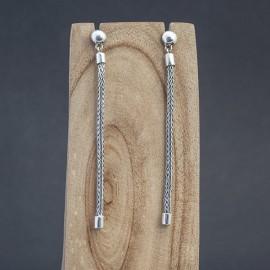 Srebrne długie kolczyki