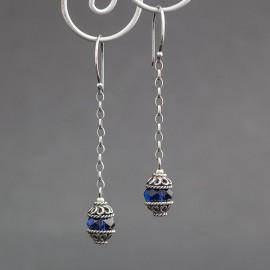Srebrne kolczyki z kryształkami Swarovskiego