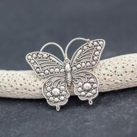 Srebrna broszka w kształcie motyla