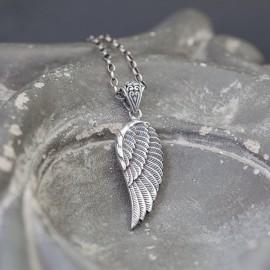Srebrny wisior - skrzydło