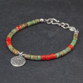 Srebrna bransoletka w etnicznym stylu