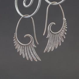 Srebrne kolczyki skrzydła