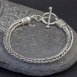 Bransoletka ze srebrnego łańcucha