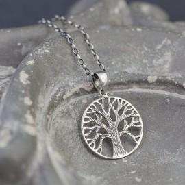 Srebrny wisiorek drzewo życia