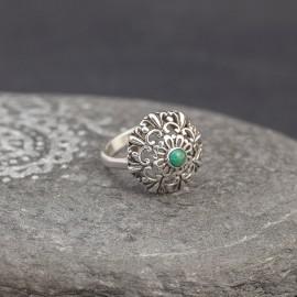 Srebrny pierścionek z turkusem (rozm.13)