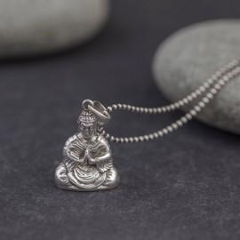 Srebrny naszyjnik Budda