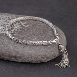 Srebrna bransoletka z przywieszką