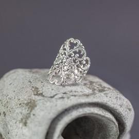 Srebrny ażurowy pierścionek (rozm.11)