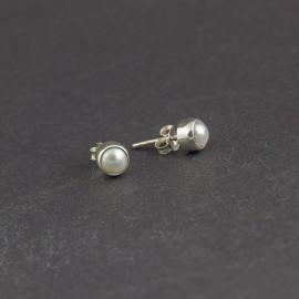 Srebrne sztyfty z perełkami